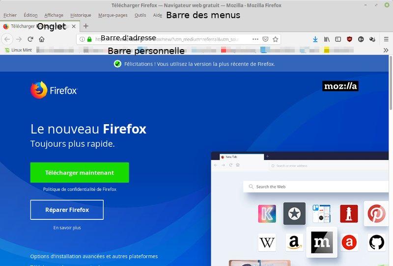 Firefox, page de téléchargement, site Mozilla.
