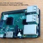 Raspberry Pi 3 B+ mise en boîte, montage