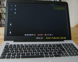 PC portable Asus aussi avec Xubuntu 18.04