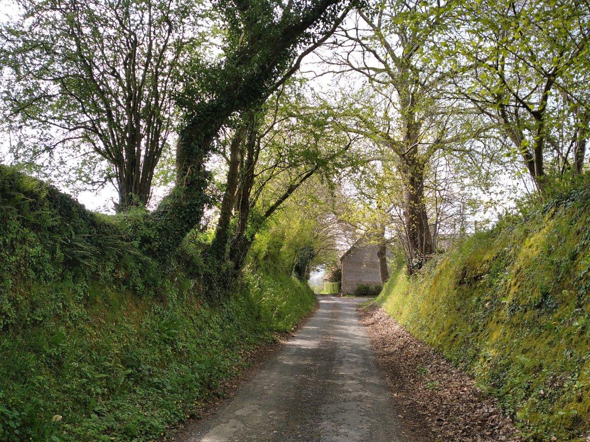 Arrivée au hameau des Roques...