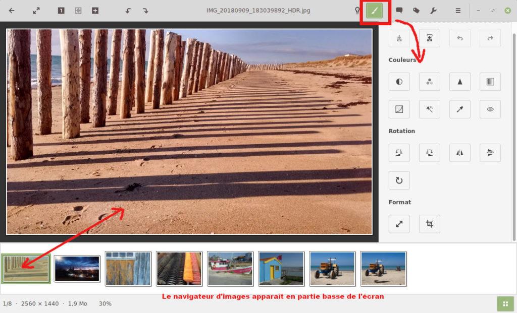 gThumb, visionneuse d'images pour Linux - retoucher ou modifier une photo