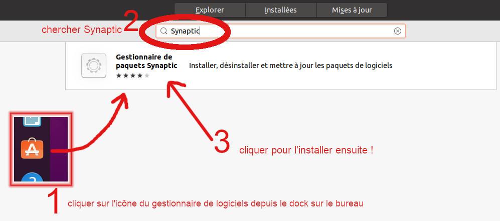 Ubuntu 20.04 LTS - installer Synaptic