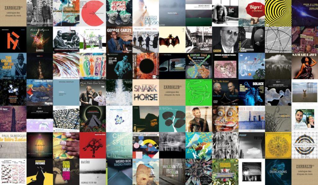 Pochettes des 81 disques au catalogue - septembre 2021 - Zarbalib'r